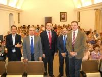 De izq. a dcha: Javier Gómez, Manuel Pérez, José Carlos Gómez Villamandos, Librado Carrasco, Eulalio Fernández al inicio de la sesión