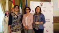 De izqda. a dcha., María Luisa Calero, María Teresa Roldán y María Rosal