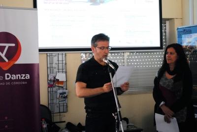 Paco Montemayor, durante la lectura del manifiesto.