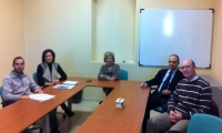En el centro la vicerrectora de Internacionalizacin y Cooperación, Carmen Galán, junto a Concha Castiñeira y Antonio Ruiz y los profesores Rodríguez y Olivares