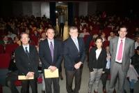 Autoridades en la inauguración