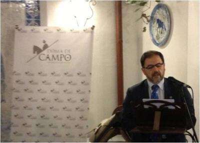 Librado Carrasco durante su intervención