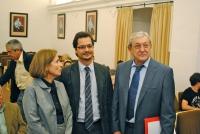 Mª Dolores Muñoz, José Mª Casado y José Ignacio Torreblanca