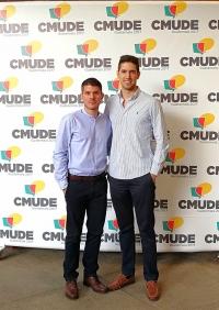 De izquierda a derecha, Gonzalo Herreros y Álvaro Ortega, representantes de la  UCO en CMUDE17