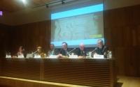 Autoridades durante la presentación de las Actas