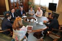 Un momento de la reunión entre responsables de la UCO y el BBVA para la renovación del acuerdo.