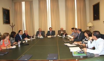 Un momento de la reunión de la sectorial celebrada en el Rectorado