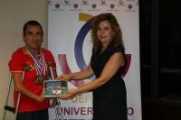 Martínez Tajuelo, junta a la vicerrectora de Vida Universitaria y Responsabilidad Social, Rosario Mérida