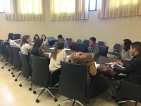 La vicerrectora de Relaciones Internacionales da la bienvenida a los alumnos Erasmus +