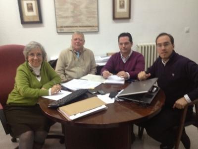 De izq a dcha: Maria Jose Porro, José Cosano, Juan de Dios Torralbo y Blas Sánchez
