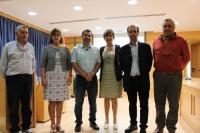 Organizadores del ciclo de conferencias con motivo del Año Internacional de Suelos junto al ponente, Alberto Inda, tercero por la izqueirda