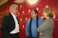 De izqda. a dcha, Javier Rodríguez Gómez, Javier de Prado y Carmen Galán