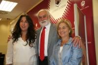 Mª Jose Romero, Antonio García del Moral y Carmen Galán