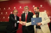 José Miguel Salinas, José Manuel Roldán y Manuel Torres