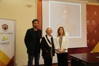 De izquierda a derecha, Pablo Rabasco, Pilar Citoler y Rosario Mérida en la presentación de la novena edición del premio.