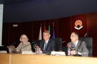 De izquierda a derecha, Gitte Kristiansen, Lorenzo Salas y Antonio Barcelona, en la jornada inaugural
