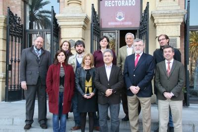 El rector saluda al Jurado del Premio Julio Anguita Parrado