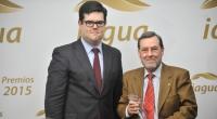 David Escobar, socio de iAgua, junto a Miguel Alcaide, profesor de la Universidad de Córdoba.