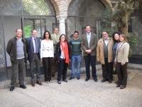 Miembros del comité ejecutivo con el decano del centro