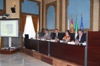 De izquierda a derecha, Juan Pedro Monferrer, José Carlos Gómez Villamandos, Lourdes Armesto y Juan Antonio Devesa, durante la presentación.