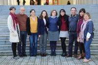 La nueva decana, Mª del Mar García (la quinta por la izquierda), con integrantes de su equipo de gobierno