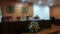 De izq a dcha. Francisco Villamandos, Rosa Aguilar y Luis Rodríguez