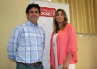 De izquierda a derecha, Miguel Ángel Calero y Julia Romero en la presentación del encuentro