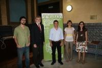De izq a dcha,Gonzalo Donaire, Enrique Centella, Jose Manuel Roldán,  Begoña Escribano y Teresa Hernández