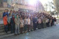 Foto de familia de los participantes en la sesión matinal de 'Café con Ciencia'