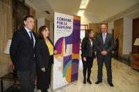 De izquierda a derecha, José Carlos Gómez Villamandos, Mª Ángeles Luna, Isabel Ambrosio y Antonio Ruiz.