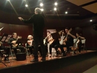 La orquesta Plectro durante su concierto en el Rectorado