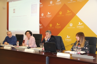 De izquierda a derecha, Desiderio Vaquerizo, Mª Teresa Roldán, Juan Pedro Monferrer y Ana R. Osuna.