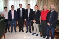 De izda. a dcha., Nuria Magaldi, Pedro García, José Carlos Gómez, Antonio Maíllo, Alfonso Zamorano, Juan Antonio Caballero y Luis Medina.