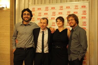 De izquierda a derecha, Javier Sánchez Monedero, Sergio Gómez Bachiller, Silvia Lopera Cerro y Enrique Delgado Rodríguez