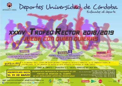 Cartel anunciador de la XXXIV edición del Trofeo Rector