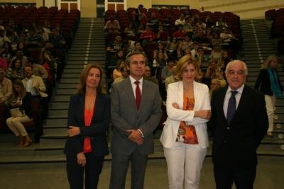 De izquierda a derecha Alicia Vives, Alfonso García-Ferrer, Judit Anda y Dimas Rizzo