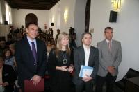 De izda. a dcha., José Carlos Gómez Villamandos, Mar Arteaga, Vicente Vallés y Miguel Pino