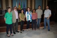 Asistentes a la reunión preparatoria de  la VII Muestra de Cine de los Pueblos Indígenas