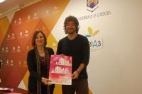 Carmen Liñán y Pablo Rabasco en la presentación de Abril en la Bilbioteca