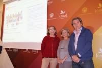 De izquierda a derecha, Carmen Blanco, Carmen Galán y Pedro Montero.