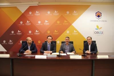 De izquierda a derecha, Enrique Quesada, José Carlos Gómez Villamandos, Emiliano Pozuelo y Blas Sánchez