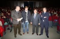 De izquierda a derecha, Manuel Torralbo, Juan Miguel Almansa, Ricardo Rojas y Pedro Monterio antes de inaugurar las jornadas