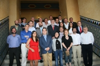 Los homenajeados, junto al rector y otros mimebros del CEU