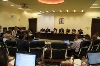 Vista general de la sala de Consejo de Gobierno durante su sesión de hoy, la última antes de la pausa estival.