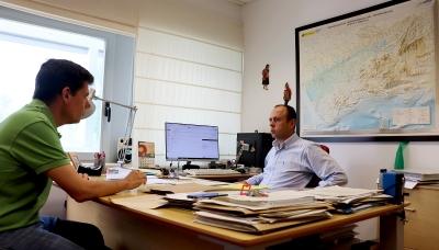 Los investigadores Emilio Camacho y Juan Antonio Rodríguez