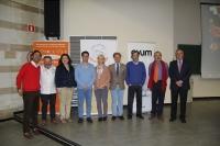 Autoridades, organizadores y patrocinadores en la inauguración del VIII Simposio del Salmorejo Cordobés