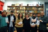 Los finalistas en la libreria