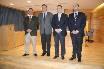 De izq. a dcha, Rafael Medina, José Carlos Gómez Villamando, Fernando Quero y Enrique Quesada
