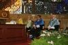 Los ex-rectores en la mesa presidencial
