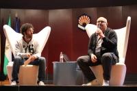 Los periodistas Óscar Menéndez y Daniel Mediavilla en la pasada edición de las jornadas